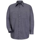 Red Kap SP10-1 Long Sleeve Microcheck Uniform Shirt