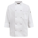 Red Kap 0401WH Women's Ten Pearl Button Chef Coat - White