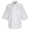 Red Kap 0404WH 1/2-Sleeve Chef Coat - White