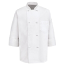 Red Kap 0411WH Eight Knot-Button Chef Coat - White