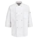 Chef Designs 0413WH Eight Pearl-Button Chef Coat - White