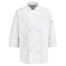 Chef Designs 0415WH Ten Pearl Button Chef Coat - White