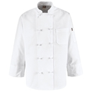 Chef Designs 0421WH Ten Knot-Button Chef Coat - White