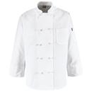 Chef Designs 0421WH Ten Knot-Button Chef Coat - White