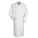 Red Kap 4016WH Gripper Front Butcher Coat - Top Outside Pocket - White
