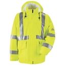 Bulwark JXN4YE Hi-Visibility Flame-Resistant Rain Jacket  - Yellow