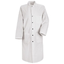 Red Kap KS58WH Snap Front Butcher Coat - Long - White