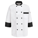 Chef Designs KT74BT Garnish Chef Coat - White