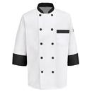 Chef Designs KT74BT Garnish Chef Coat - White