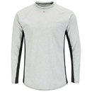 Bulwark MPU8GY Fr Two-Tone Long Sleeve Base Layer Mpu8  - Grey