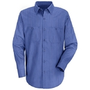 Red Kap SB12BS Long Sleeve Industrial Solid Work Shirt - Blue/Navy