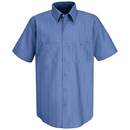 Red Kap SB22BS Short Sleeve Industrial Solid Work Shirt - Blue/Navy