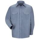 Red Kap SC14LB Long Sleeve Deluxe Western Style Shirt - Light Blue