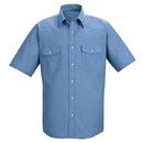 Red Kap SC24LB Short Sleeve Deluxe Western Style Shirt - Light Blue