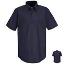 Red Kap SC40 Short Sleeve Wrinkle-Resistant Cotton Work Shirt