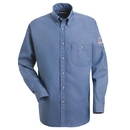 Bulwark SEG2LD Button-Front Denim Dress Uniform Shirt  - Light Blue