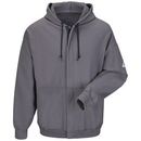 Bulwark Zip-Front Hooded Sweatshirt - Cotton/Spandex Blend - Cat 2 - Seh4