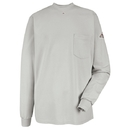 Bulwark SET2GY Knit Long Sleeve T-Shirt   - Grey