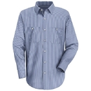 Red Kap SL10WB Long Sleeve Industrial Solid Work Shirt - Blue/White