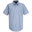 Red Kap SL20WB Short Sleeve Industrial Solid Work Shirt - Blue/White