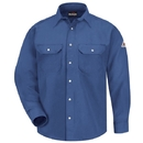 Bulwark SNS6RB Snap Front Deluxe Shirt - 6 Oz. Hrcl - Royal