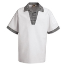 Chef Designs SP06WH Snappy-V Chef Shirt - White