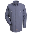 Red Kap SP10-1 Long Sleeve Microcheck Uniform Shirt