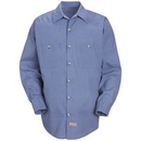 Red Kap Long Sleeve Geometric Micro-Check Work Shirt - Sp14