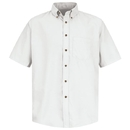 Red Kap SP80 Men's Short Sleeve Button-Down Poplin Shirt