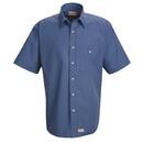 Red Kap SP84 Short Sleeve Mini-Plaid Uniform Shirt