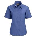 Red Kap SR65FB Women's Soft Collar Oxford Dress Shirt - Short Sleeve - French Blue