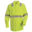 Red Kap SS14-3 Long Sleeve Hi-Visibility Work Shirt: Class 2 Level 2