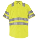 Red Kap SS24-2 Short Sleeve Hi-Visibility Work Shirt: Class 3 Level 2