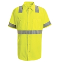 Red Kap SS24-3 Short Sleeve Hi-Visibility Work Shirt: Class 2 Level 2