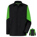 Red Kap SY10BL Men's Long Sleeve Two-Tone Crew Shirt