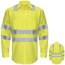 Red Kap SY14AB Hi-Visibility Long Sleeve Ripstop Work Shirt - Type R, Class 3