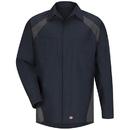 Red Kap SY16ND Men's Long Sleeve Diamond Plate Shop Shirt
