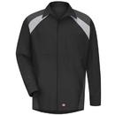 Red Kap SY18BC Men's Long Sleeve Tri-Color Shop Shirt