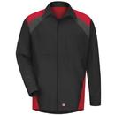 Red Kap SY18TR Men's Long Sleeve Tri-Color Shop Shirt