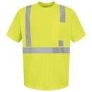 Red Kap SYK6HV Short Sleeve Hi-Visibility T-Shirt - Lime/Yellow