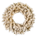 Vickerman Frosted Gold Wreath 120Tips