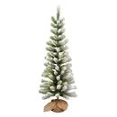 Vickerman D183040 4' Frosted Jack Pine Tree Burlap Base