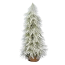 Vickerman D186040 4' Flocked Coutler Pine Tree Burlap Base
