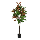 Vickerman FH190250 5' Green Potted Magnolia Tree