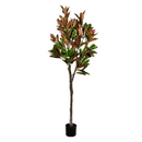 Vickerman FH190270 7' Green Potted Magnolia Tree