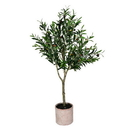Vickerman FH190340 4' Green Potted Olive Tree