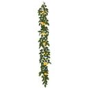 Vickerman FK170703 6' Green Salal Leaf/Yellow Lemon Garland
