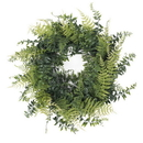 Vickerman Buckler Fern & Grass Wreath-Green