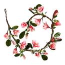 Vickerman 6' Dark Pink Magnolia Garland