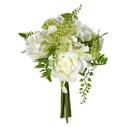 Vickerman FS190501 12'' White Rose Bouquet 2/Pk